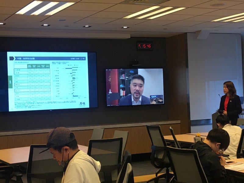 摩根亞洲首席市場策略師許長泰(Tai Hui)今天舉行視訊記者會,談今年第四季的投資展望與策略。記者賴昭穎/攝影