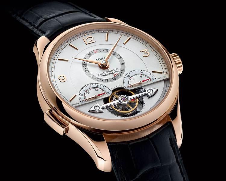 2015年時,Montblanc也曾推出結合外置陀飛輪與計時碼表的Heritag...