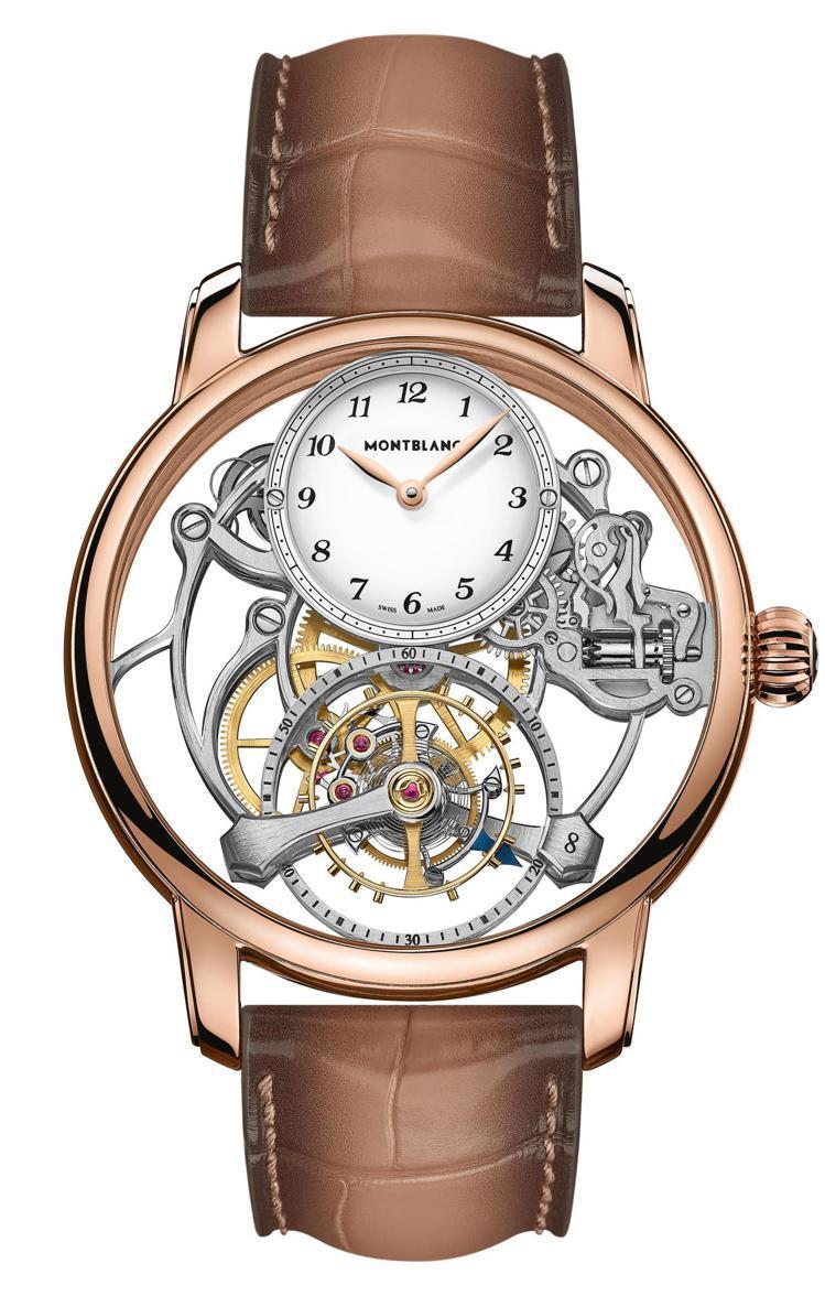萬寶龍,明星傳承系列外置陀飛輪鏤空腕錶限量款8,419萬6,500元。圖 / M...