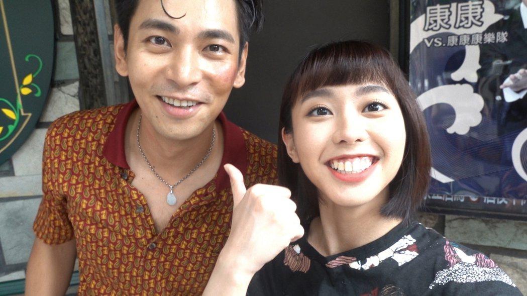 李芷婷(右)開心和楊子儀合作。圖/唯有音樂提供