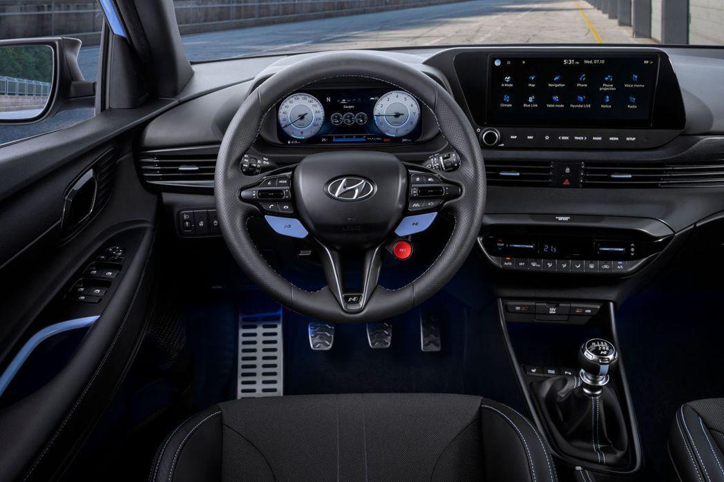 全新Hyundai i20 N內裝。 摘自Hyundai