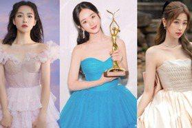 真人版迪士尼公主!宋茜、趙麗穎美穿夢幻系禮服征戰金鷹獎,像是從童話中走出來