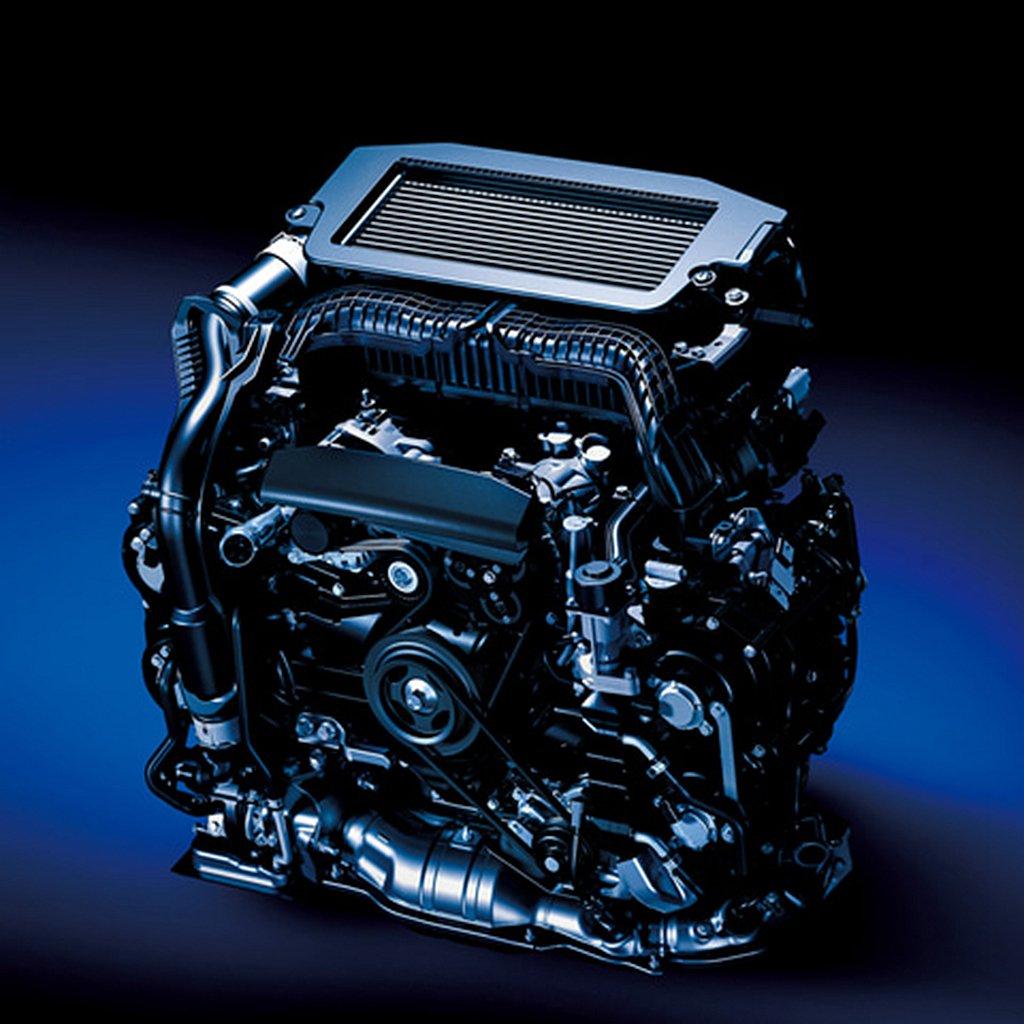 排氣量1795c.c.水平對臥四缸的渦輪增壓引擎,具備DIT燃油直噴與AVCS主...