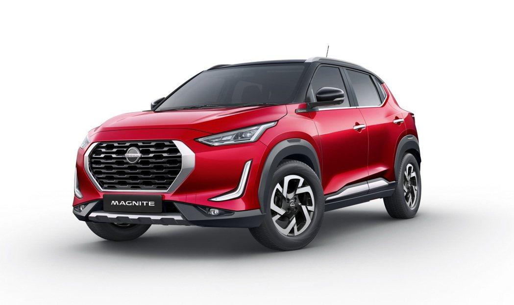 車頭別出心裁的造型設計讓Nissan Magnite成功吸引目光。 圖/Niss...