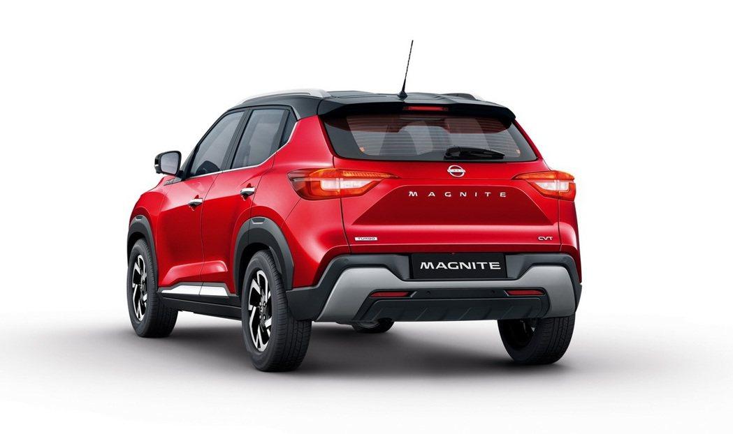 Magnite車尾用上防刮材質搭配霧銀飾板,使整體視覺層次更加豐富。 圖/Nis...