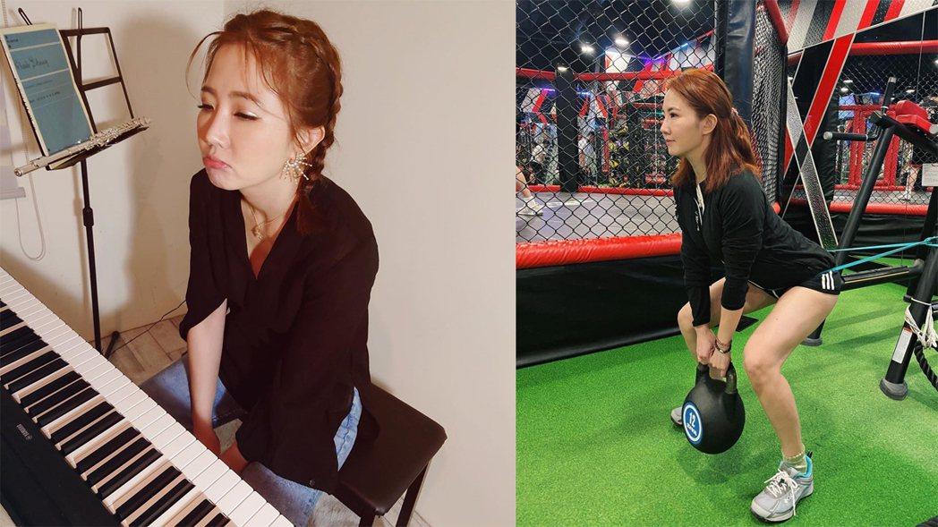 謝忻重當音樂老師教職,平時則常健身。圖/擷自IG