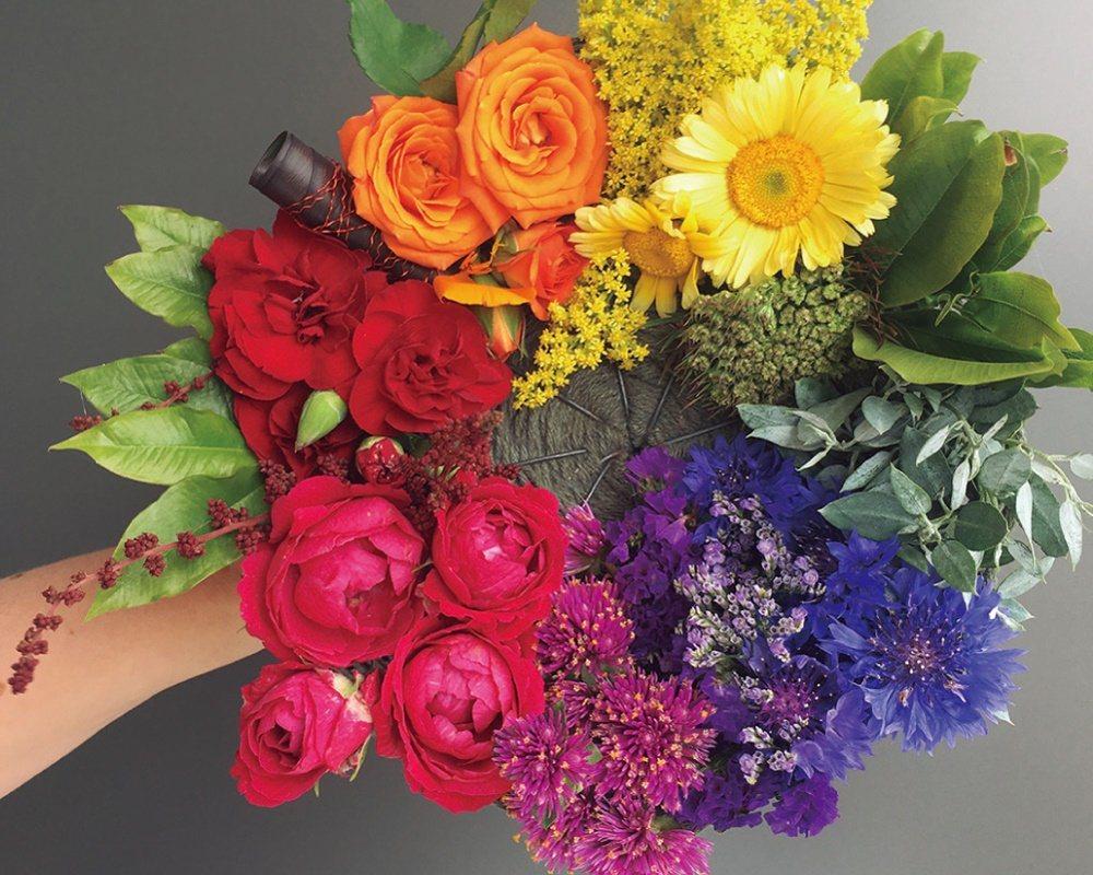 花朵色彩搭配影響整體設計。 圖/蘋果屋出版社提供