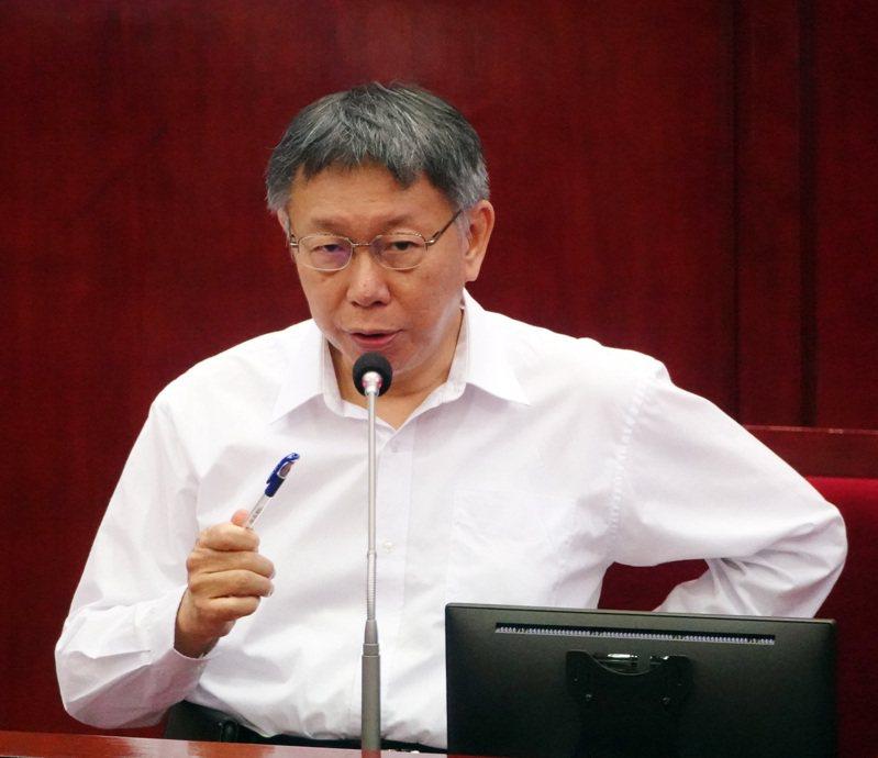 台北市長柯文哲。記者曾吉松/攝影