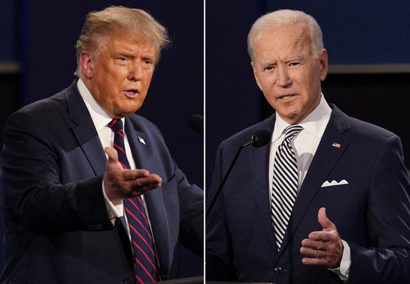 美國大選進入白熱化,川普(左)、拜登(右)誰能成為贏家? 美聯社