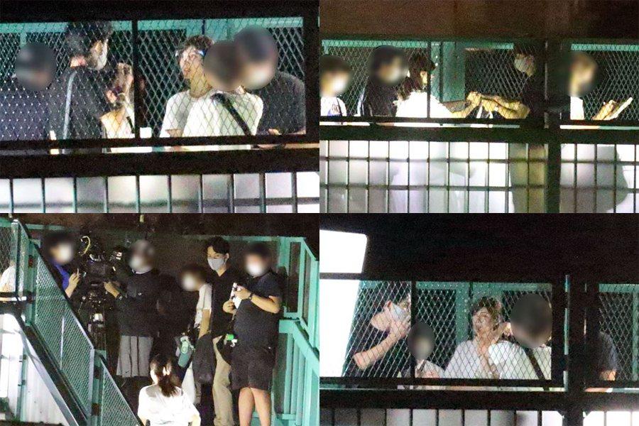 柏原崇親自開車接送內田有紀,在拍攝現場呵護備至。圖/擷自日媒《女性自身》