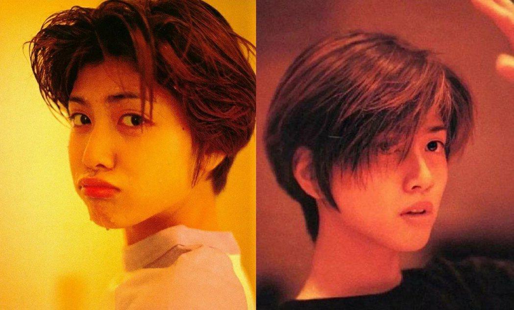 內田有紀出道時的短髮模樣深植人心。圖/擷自微博