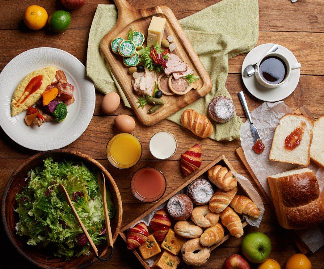 彩匯自助餐廳早餐餐食。業者/提供