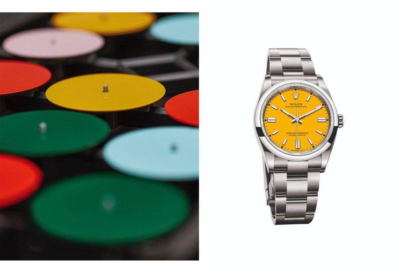 具有多種彩色表面的勞力士(Rolex)Oyster Perpetual腕表,是2020年勞力士的人氣話題之作。圖 / 翻攝自ig。