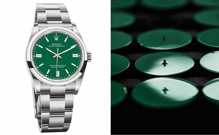 合計六層彩漆、一層無色清漆,成為Rolex Oyster Perpetual腕表...
