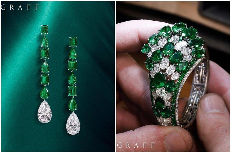 格拉夫頂級珠寶展呈現一系列優質珍稀祖母綠為主題的,將於10月27日起至11月7日止,假台北格拉夫BELLAVITA珠寶店舉辦。圖/格拉夫提供