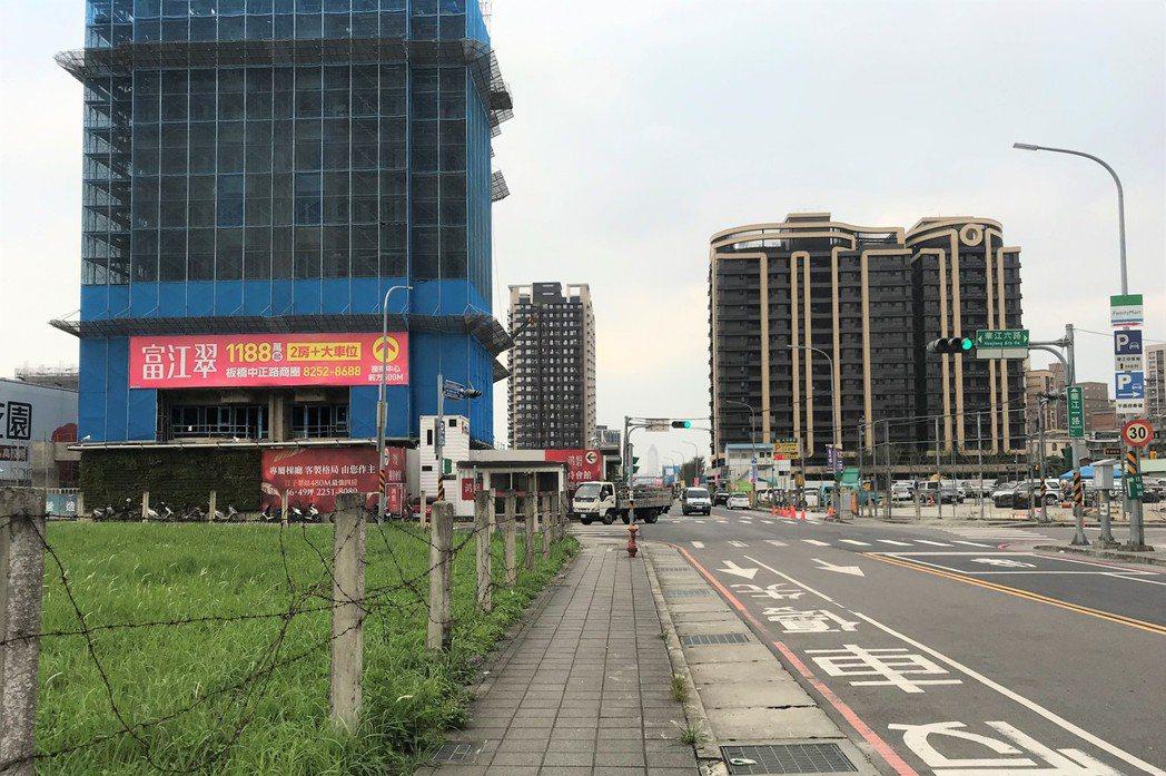 江翠北側重劃區。記者游智文/攝影