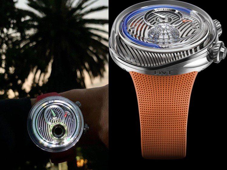 HYT的FLOW腕表風格科幻、前衛而閃耀,無需飛至墨西哥,目前台北M.A.D G...