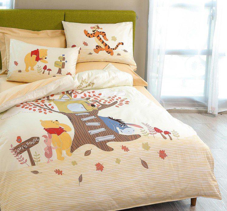 HOLA迪士尼系列維尼天絲床包兩用被組雙人原價7,980元/組,特價4,280元...