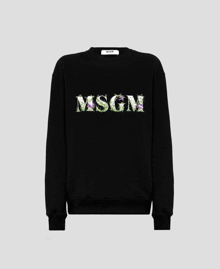 MSGM秋冬系列食人花圓領衫11,500元。圖/藍鐘提供