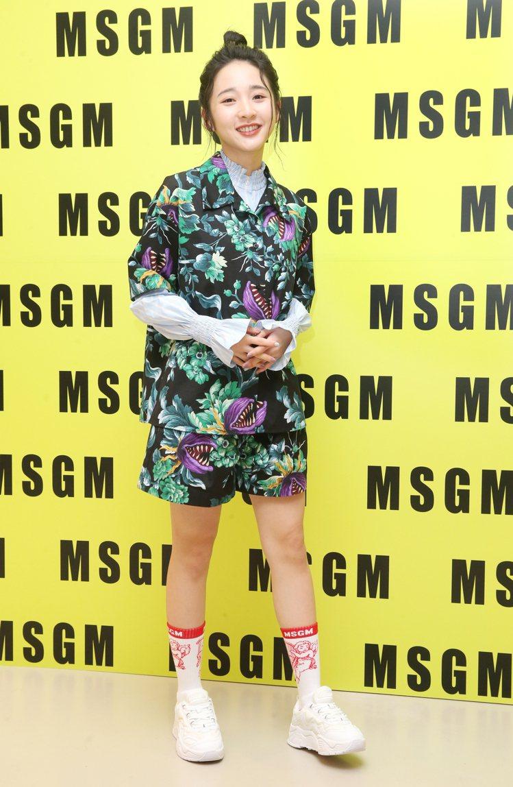本屆金鐘獎最佳新人李沐,出席愛牌MSGM的秋冬新品上市活動。記者曾學仁/攝影