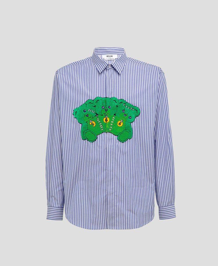 MSGN秋冬系列生化殭屍熊襯衫14,800元。圖/藍鐘提供