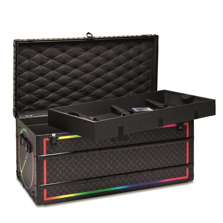 VIRGIL ABLOH設計限量版路易威登黑色彩虹MONOGRAM MALLE ...