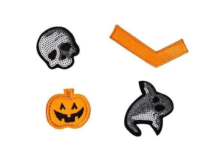 SHOOTER帆布鞋提供四款充滿童趣的魔鬼氈,包括PONY專屬logo和南瓜燈運...