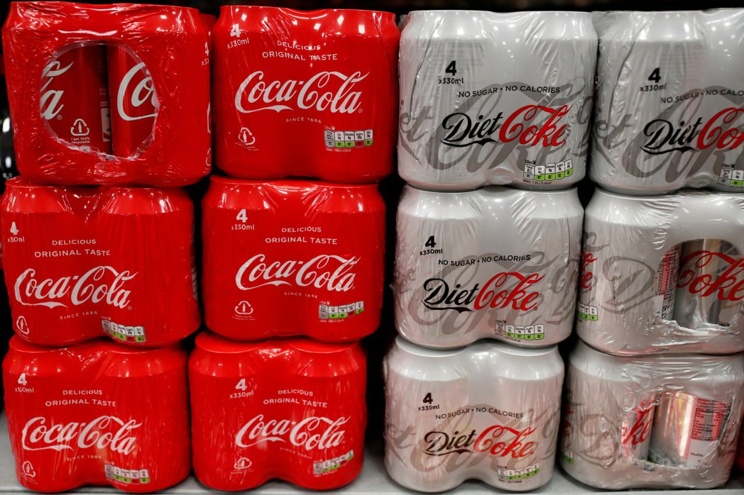 可口可樂公布財報,帶動股價上漲。路透