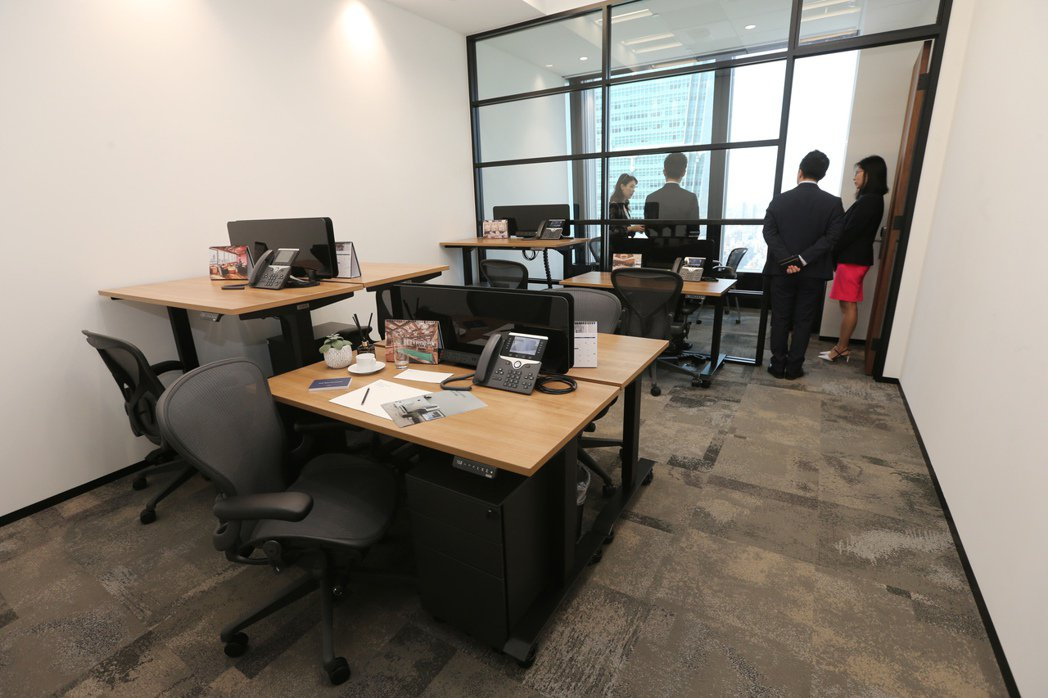 德事商務中心設在南山廣場的共享辦公室。(本報系資料庫)