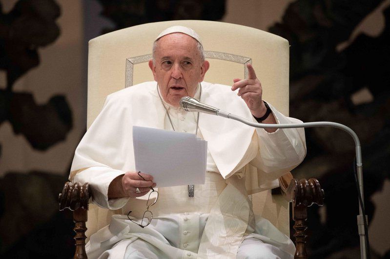 羅馬天主教教宗方濟各。(歐新社)