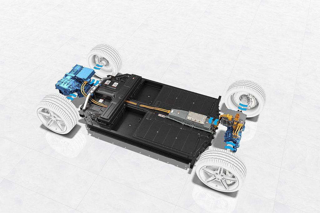 保時捷Taycan達265kW的高動能回收輸出功率,使得約90%的日常煞車能透過...