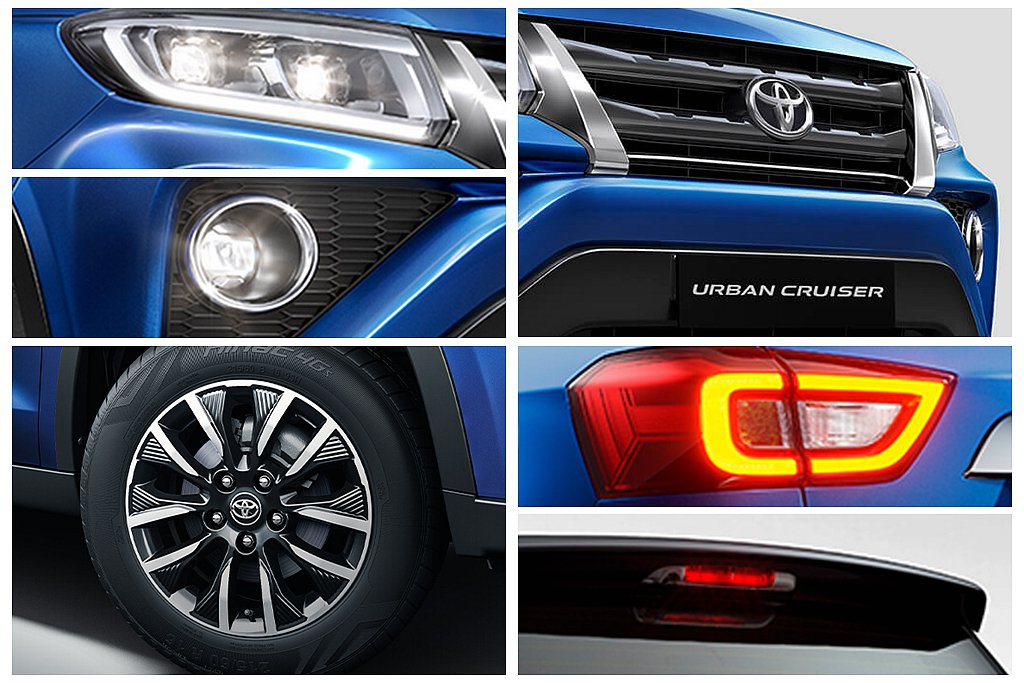 Toyota Urban Cruiser外觀以「雙梯型」設計語彙,營造車頭霸氣面...