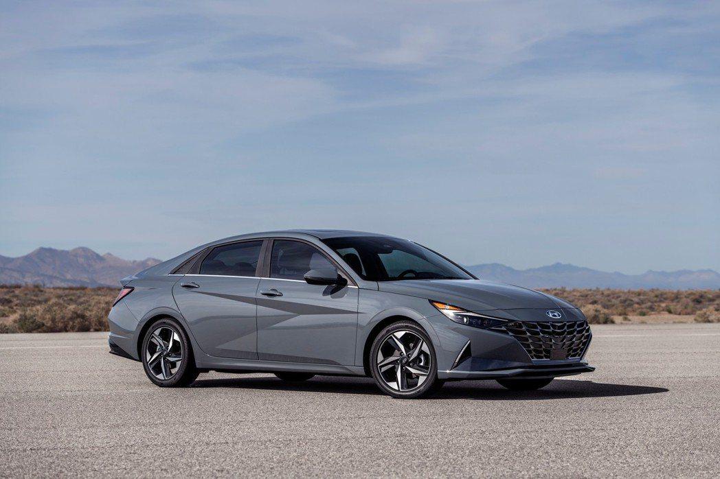 全新美規Hyundai Elantra Hybrid。 摘自Hyundai