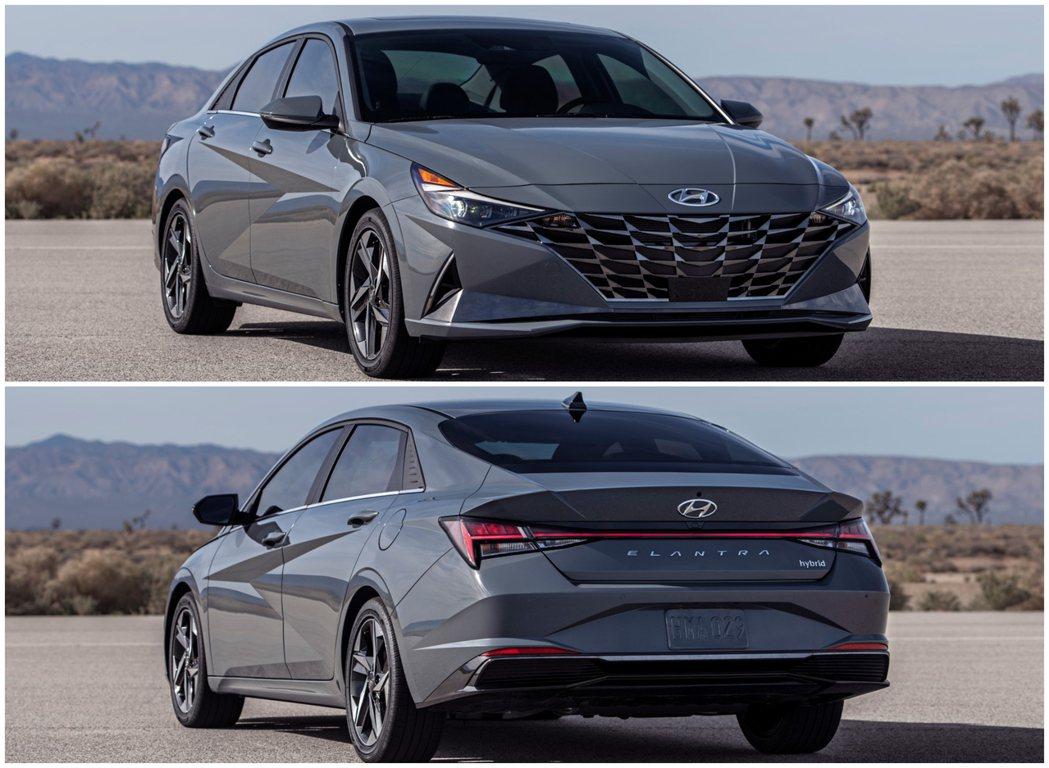 搭載2.0升MPi動力的大改款Hyundai Elantra,連同全新N Lin...
