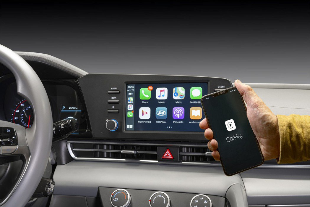 大改款Hyundai Elantra提供Apple CarPlay、Androi...
