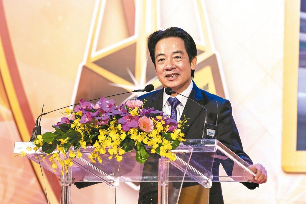 副總統賴清德指出,得玉山獎代表是具備戰鬥力、競爭力的企業。 康堃皇/攝影