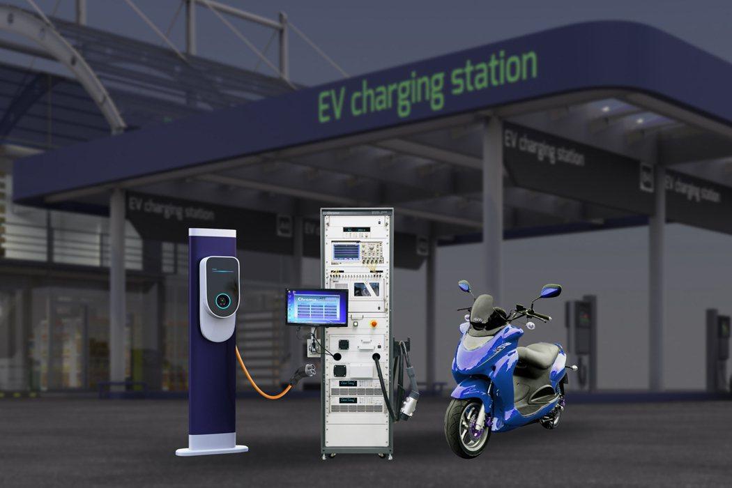Chroma電動機車快充測試系統。 致茂電子/提供