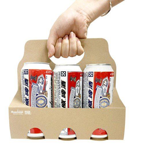 逸昇設計的「飲料六罐裝提卡」。 逸昇設計/提供