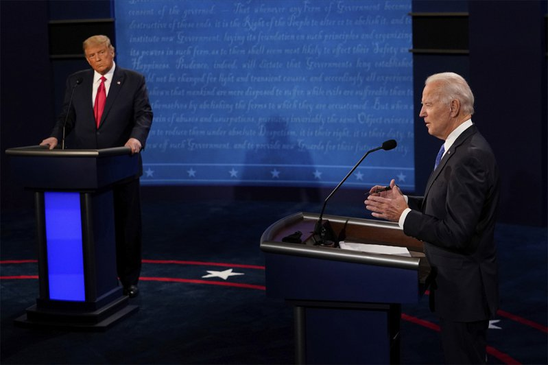 川普自稱和北韓領導人金正恩關係良好,對手拜登不以為然。美聯社