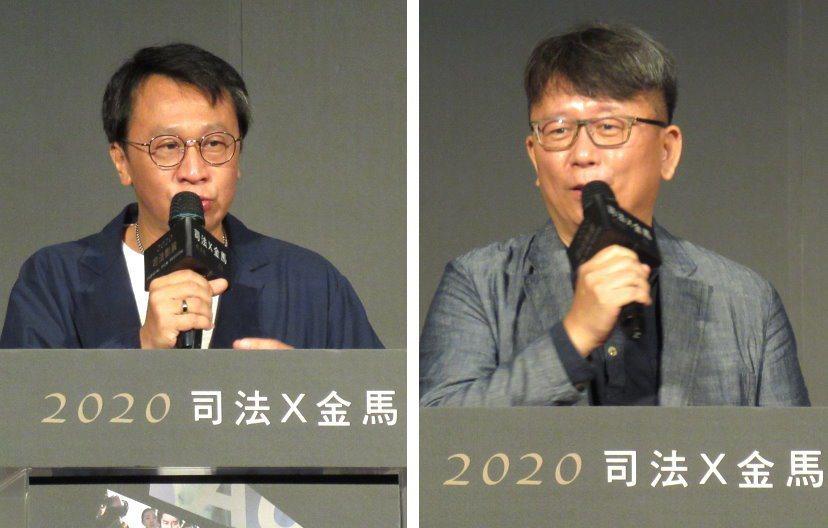 金鐘影帝游安順(左圖)20日在「司法X金馬」影展記者會致詞時,笑說希望有天能演國...