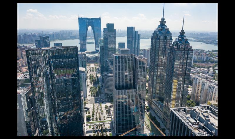 以江南庭園聞名的蘇州,不僅已是人口超過1,000萬的大城市,人均GDP甚至比台灣還高。中新社