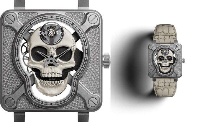 Bell & Ross,BR 01 Laughing Skull WHITE腕表...