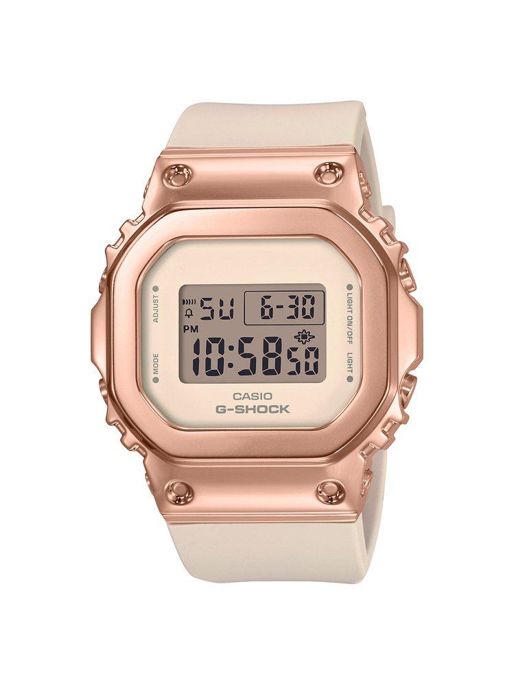 G-SHOCK GM-S5600PG-4腕表,不鏽鋼表殼6,000元。圖/CAS...