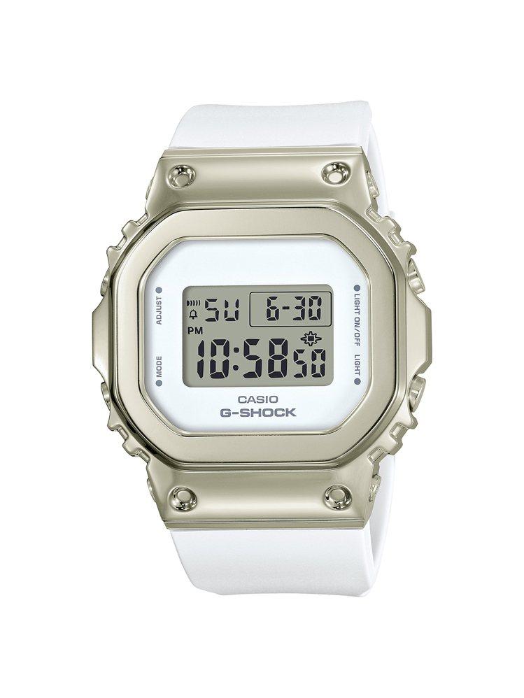 G-SHOCK GM-S5600G-7腕表,不鏽鋼表殼6,000元。圖/CASI...
