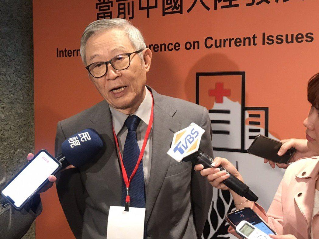 淡江大學大陸所榮譽教授趙春山。記者呂佳蓉/攝影