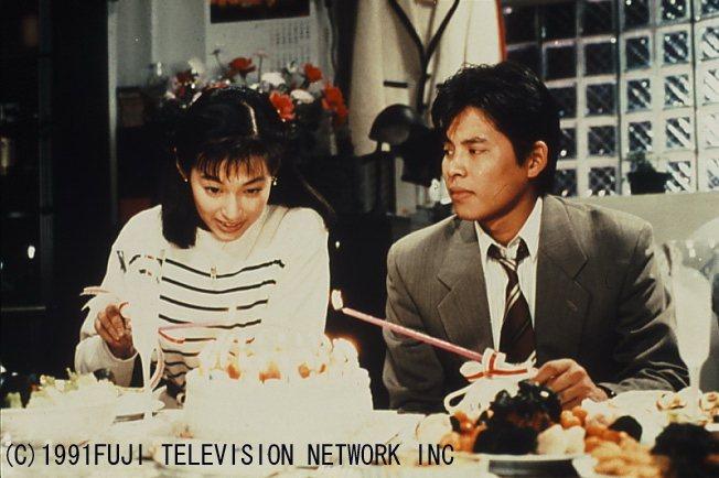 鈴木保奈美(左)、織田裕二於1991年首次同台合作的「東京愛情故事」。圖/八大電...
