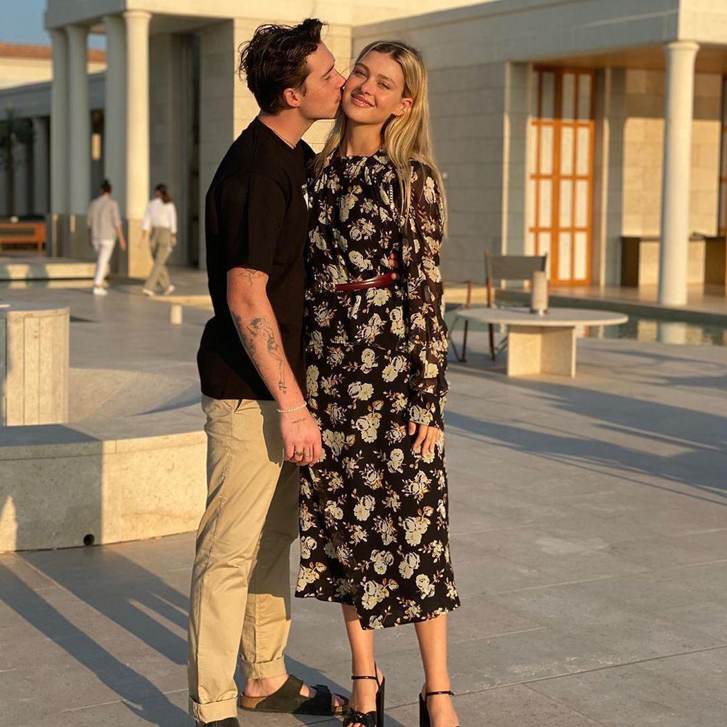 布魯克林貝克漢與妮可拉佩茲時常發布甜蜜秀恩愛的照片。圖/摘自Instagram