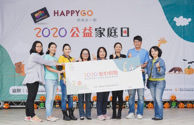 HAPPY GO重視社會企業責任,23日攜手八大公益團體於台北市立動物園舉行公益家庭日,呼籲千萬卡友捐點做愛心。HAPPY GO/提供