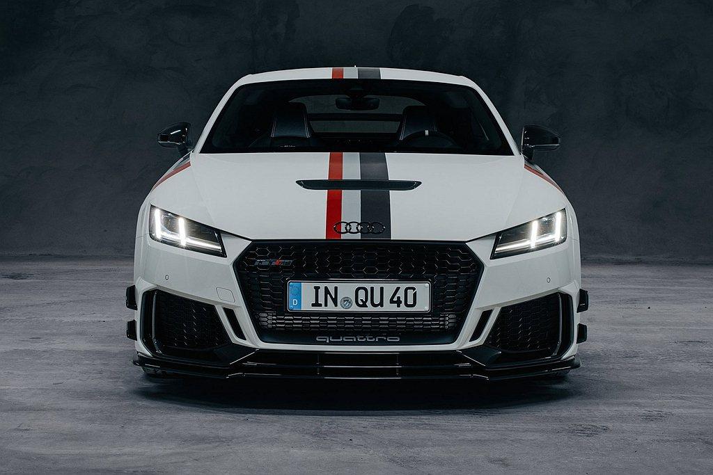 慶賀quattro問世40年,Audi於德國市場推出TT RS專屬特仕車。 圖/...