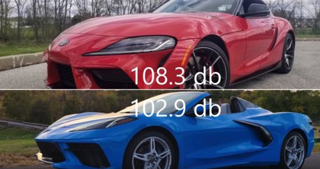 影/ Toyota Supra與C8 Corvette來尬聲浪!V8真的比較大聲嗎?